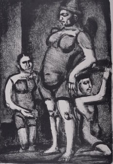 Georges Rouault ( 1871 – 1958 ) -  Clowness (Saltimbanques)