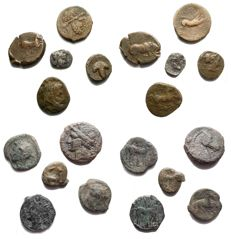 Greek antiquity - Set of 10 specimens. AG. AE