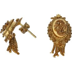 14 kt - Yellow gold-plated earrings - Length x Width: 2.7 x 1.2 cm