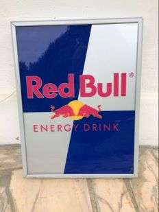 Advertising sign with lighting - Red Bull - circa 1995