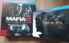 PS4 - Deus Ex: Mankind Divided Collector's Edition  and Mafia III Collector's Editon