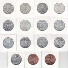 Austria - Collection of 15 different 10 Euro coins 2003/2013 - silver and copper