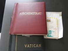 The Vatican, collection of letters and stamps in two albums, one of which is a Schaubek album