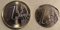 Malta - 1 Euro 2015 (mint error) only the core was minted