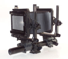 "Toyo 45C: 4 x 5"" view camera, with 4 x 5"" film/focusing screen, unique compendium, wide-angle bellows and Toyo 45C leaflet"