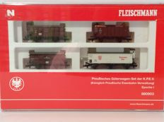 Fleischmann N - 880903 - Prussian freight wagon set of the KPEV EpI (1916)