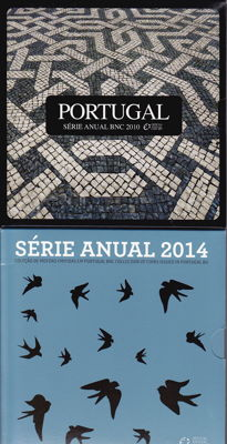 Portugal - year sets 2010, 2014, 2015 and 2016 (4 pieces)