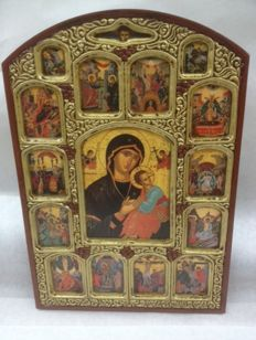 Greek Byzantine Icon, Mother of God - Greece - end 20th century