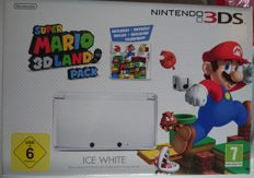 Nintendo 3DS Console Ice White Super Mario 3D land edition pack