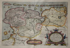 The Netherlands, Germany; Abraham Ortelius  - Oost ende West Vrieslandts (..) - 1598