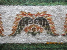 "Art weaving ""The RAM"" - heavy wool table carpet."