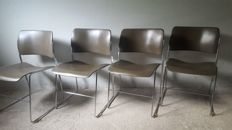 David Rowland for Howe - 4 industrial design chairs, Type: 40/4