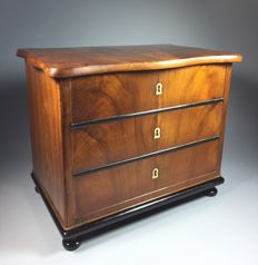 Walnut miniature chest of drawers with secret enclosure - France - ca. 1890