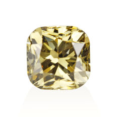 1.16 ct cushion cut diamond Fancy Dark Brown-Greenish Yellow Natural colour VS2  **NO RESERVE PRICE**