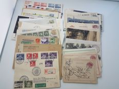 Sweden - 62 letter cards and covers, including FDC , Registered mail, Airmail, military mail and censored mail