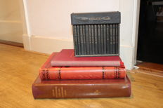 Lot with 3 religious books and one 15 book box set 1901 / 1956