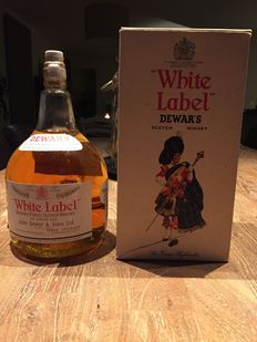 Dewar's White Label - Half American Gallon imported May 1973 - rare