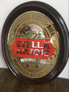 Beautiful framed mirror advertising Stella Artois