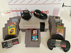 Nintendo NES With 12 games like Super Mario Bros 1 & 3, Donkey Kong, Double Dragon II, etc!!