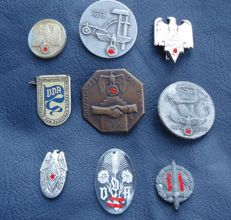 Collection of small and sports badges, pins / WW 2