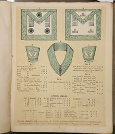 Freemasonry; George Kenning & Sons-Illustrated Price List of Masonic Clothing, Jewels- approx. 1905