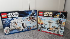 Lego Star Wars - 8089 and 7749 - Hoth Wampa Cave / Echo Base