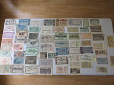 Germany - Emergency currency / inflation notes 1908-1924 Weimar Republic - 62 notes
