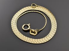 "18k Gold Necklace. Chain ""Square Cable"" - 50 cm"