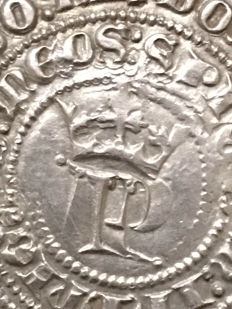 Spain - pedro the First - 1 real silver - mint of Seville - 1350 to 1368