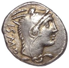 The Roman Republic - L. Thorius Balbus - AR Denarius (Silver, 19mm, 3,85g.), Rome mint c. 105 BC - Head of Juno Sospita / Bull - Cr. 316/1; Syd. 598