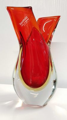 Formia - Sommerso red glass vase