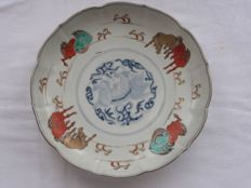 Imari plate with horses - Japan - Early 19th century