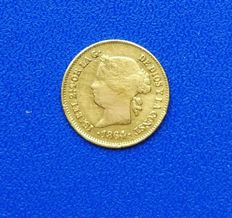 Spain - 1 gold peso Philippines 1864 Isabel II Manila