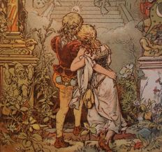 Fairy tales; Lot with 6 antique fairy tale books - [1856] / c. 1915