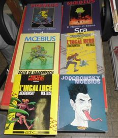Moebius - 6x Italian volumes - hardcover and paperback editions