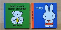 Signed; Dick Bruna - Miffy & Lente zomer herfst en winter - 1989 / 1997