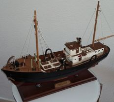 Decorative wooden fishing boat Chalutier
