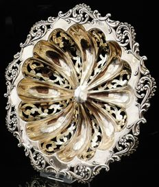 Silver Gilt Large Pierced Bowl, Chester - 1906
