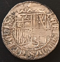 Spain - Catholic Monarchs - 1 silver real - mint of Granada - assayer Maltese cross - 1474 to 1504