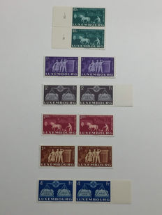 Luxembourg 1951 - United Europe - Complete series in pairs