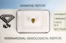 0.29 ct Pear cut Diamond Yellow - SI2