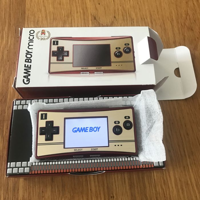 Game Boy Micro Mario Limited Edition 20th Anniversary Famicom (complete) Catawiki
