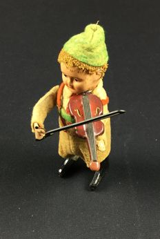 Schuco, Germany - Height: 13 cm - Tirolese con Violino 982/2, 1930s