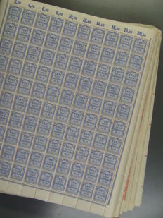 German Reich 1919-1923 – collection of over 80 different inflation stamp sheets