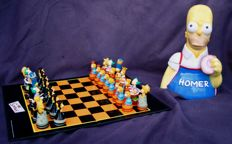 The Simpsons 3D Chess Game + Homer Simpson Cookie Jar