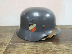 German M35 Luftwaffe double decal helmet.