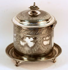 Antique Victorian Silver Plate Tea Caddy, Atkin Brothers, Circa.1870