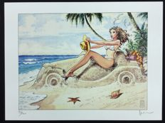 "Manara, Milo - Art for ""Donne e Motori in Spiaggia"""