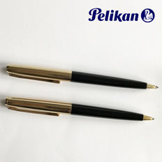 Pelikan 30 – Ballpoint Pen and Mechanical pen ~ black / rolled gold