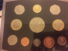 United Kingdom - Yearset 2003 with 1 Penny up to and including 5 Pounds (11 coins)